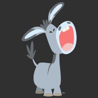 Singing Little Cartoon Donkey T-shirt shirt