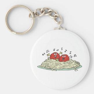 singing meatballs on spaghetti keychain