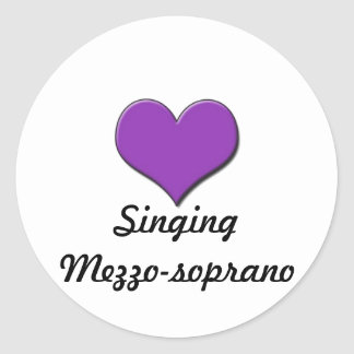 Singing Mezzo-soprano Sticker