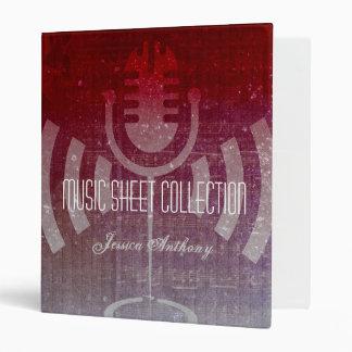 Singing Microphone Music Sheet Collection Binder