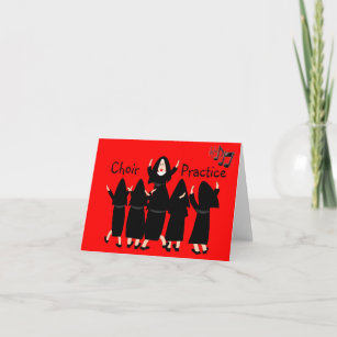 Singing Nuns Choir Practice Note Cards Adorable Card
