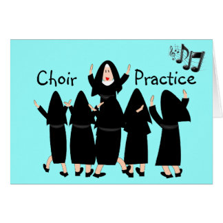 """Singing Nuns """"Choir Practice"""" Note Cards-Adorable Card"""
