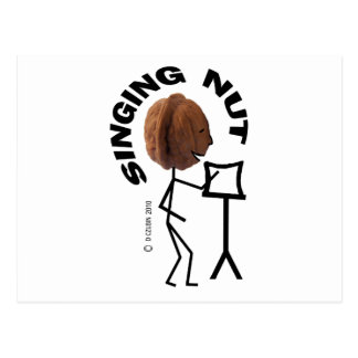 Singing Nut Postcard