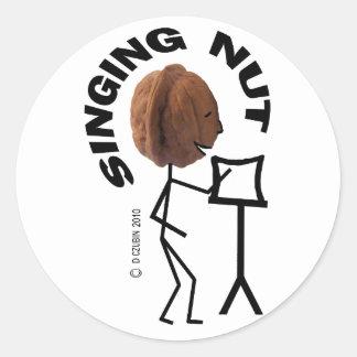 Singing Nut Classic Round Sticker