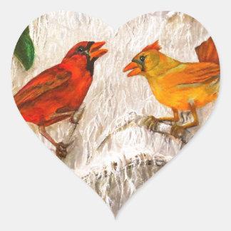 Singing of love heart sticker