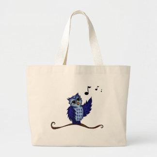 singing Owl Canvas Bag