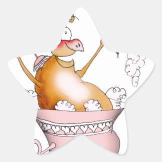 singing pig, tony fernandes star sticker