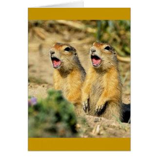 Singing Prairie Dogs Greeting Card