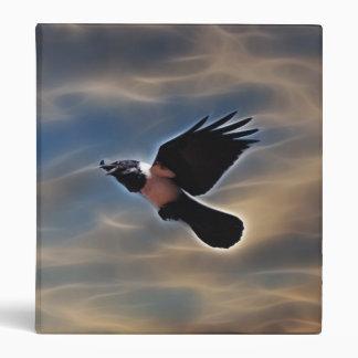 Singing raven in flight 3 ring binder