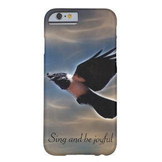 Singing raven in flight barely there iPhone 6 case