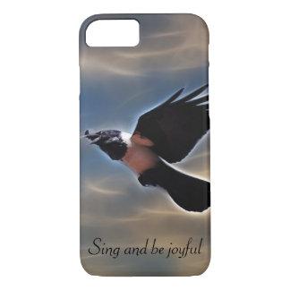Singing raven in flight iPhone 8/7 case