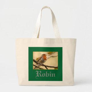 Singing Robin Large Tote Bag