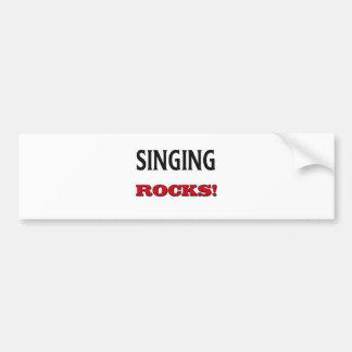 Singing Rocks Car Bumper Sticker