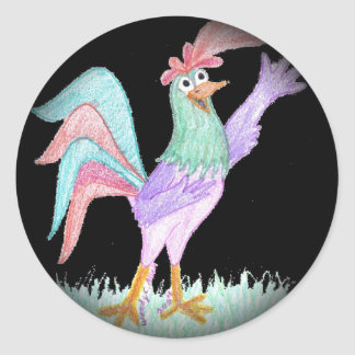 Singing Rooster Stickers