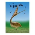 Singing Sandhill Crane Chick Postcard