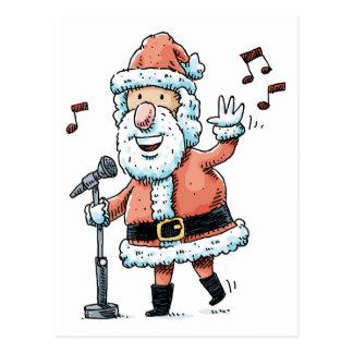 Singing Santa Claus Postcard
