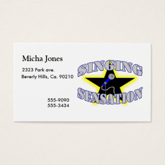Singing Sensation Business Card
