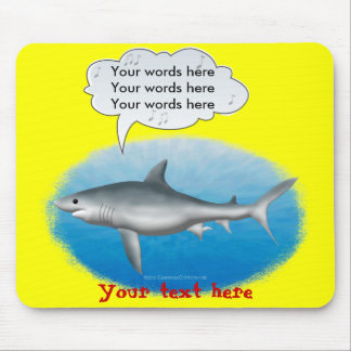 Singing Shark Mouse Pad