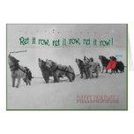 Singing Sled Dogs: SItka Alaska Malamute Choir Greeting Card