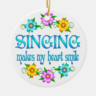 Singing Smiles Ceramic Ornament