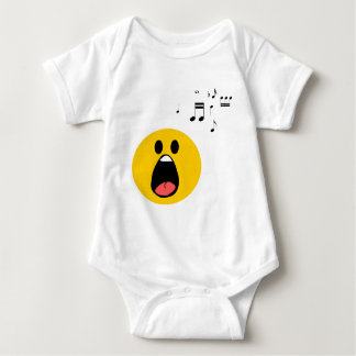 Singing smiley baby bodysuit