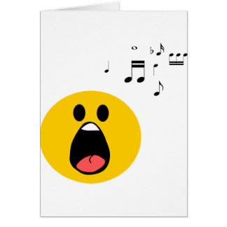 Singing smiley card