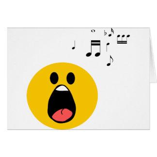 Singing smiley greeting card