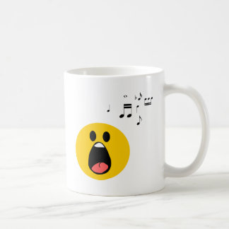 Singing smiley coffee mug
