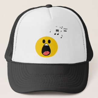 Singing smiley trucker hat