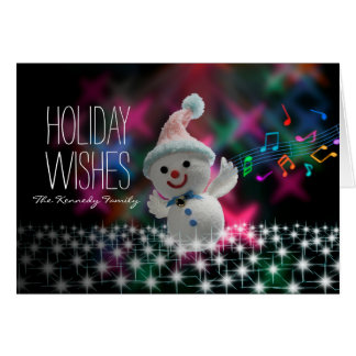 Singing Snowman Card