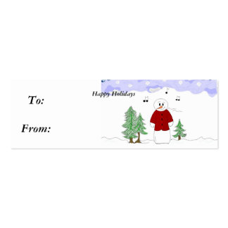 Singing Snowman - Gifttag Business Card