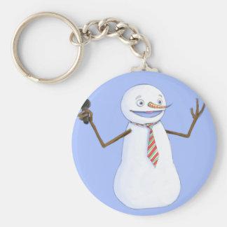 Singing Snowman Keychain