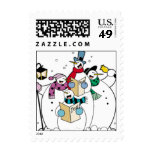 Singing Snowmen Christmas Postage Stamp