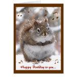 Singing Squirrel Birthday Card