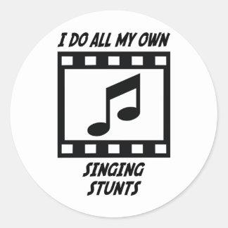 Singing Stunts Classic Round Sticker