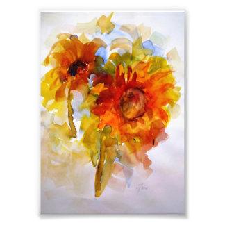 Singing Sunflowers Photo Print