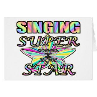 Singing Superstar Greeting Card