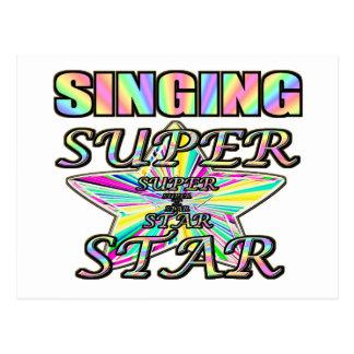 Singing Superstar Postcard