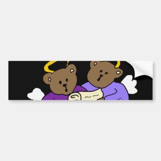 Singing Teddy Bear Angels Bumper Sticker
