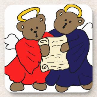 Singing Teddy Bear Angels Coaster