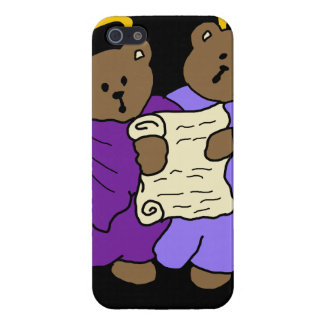 Singing Teddy Bear Angels in Purple Robes Cover For iPhone SE/5/5s