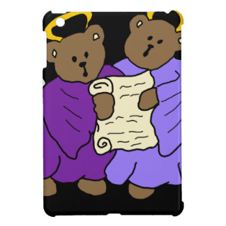 Singing Teddy Bear Angels in Purple Robes iPad Mini Case