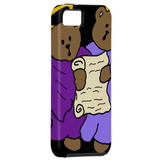 Singing Teddy Bear Angels in Purple Robes iPhone SE/5/5s Case