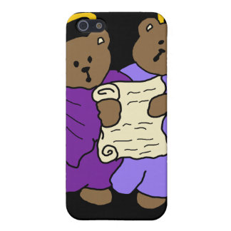 Singing Teddy Bear Angels in Purple Robes iPhone SE/5/5s Cover