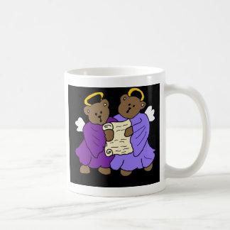 Singing Teddy Bear Angels in Purple Robes Coffee Mugs