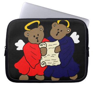 Singing Teddy Bear Angels Laptop Sleeves