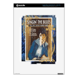 Singing The Blues Vintage Sheet Music Blue Tears Decals For iPad 3