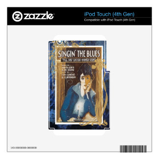 Singing The Blues Vintage Sheet Music Blue Tears Decals For iPod Touch 4G