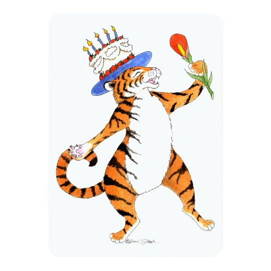 Singing Tiger Birthday Party Invitation Zazzlecom
