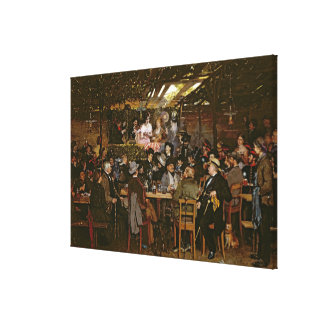 Singing to a Captive Crowd Canvas Print